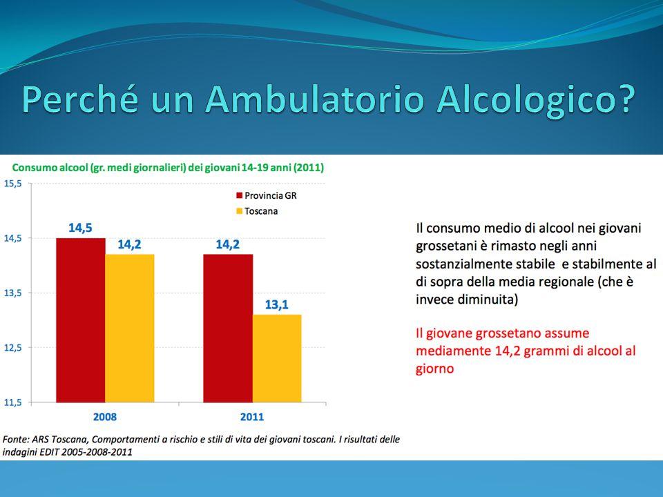 Relazione Alcoldipendenti Periodo 01 Gennaio 2012 - 31 Dicembre 2012 Distretto Area Grossetana (i dati sono stati gentilmente elaborati dalla Dott.ssa Luciana Bacci, U.F.
