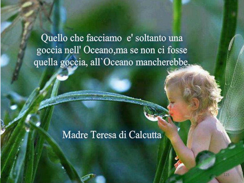 """""""Quello che noi facciamo è solo una goccia nell'oceano, ma se non lo facessimo l'oceano avrebbe una goccia in meno"""" Madre Teresa di Calcutta 125"""