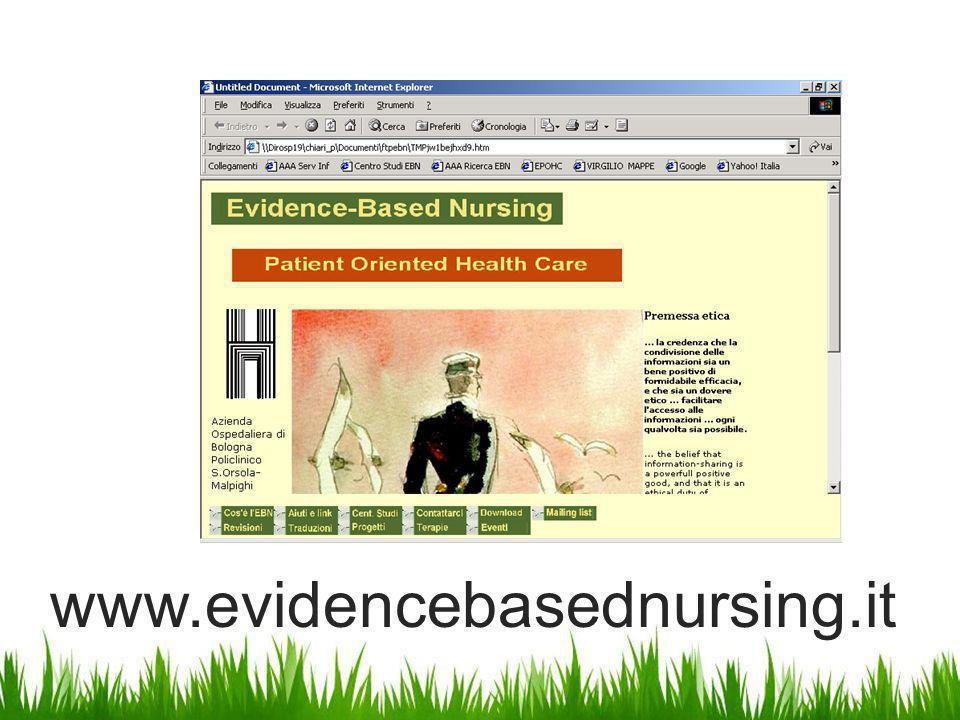www.evidencebasednursing.it