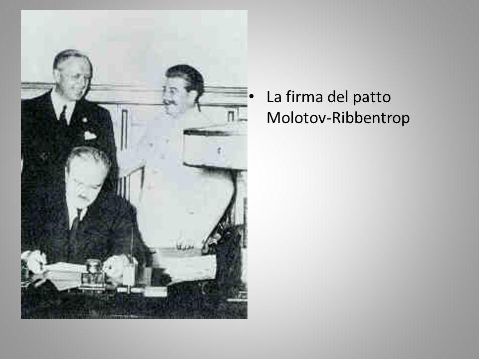 La firma del patto Molotov-Ribbentrop