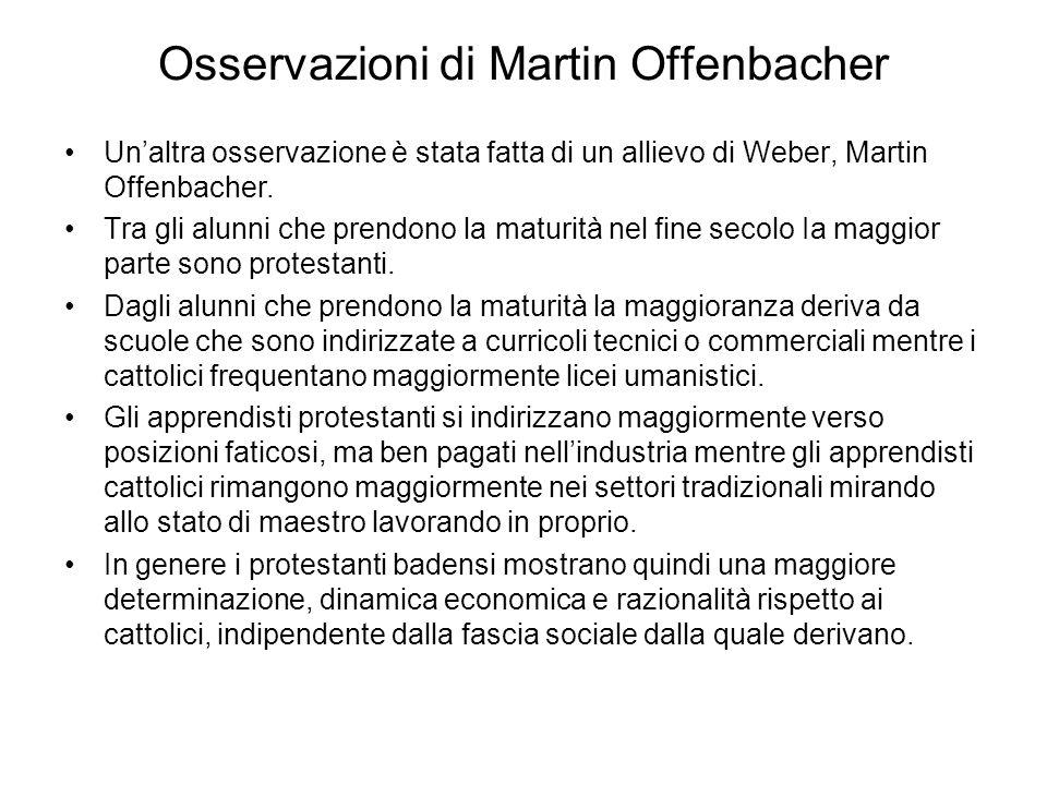 Osservazioni di Martin Offenbacher Un'altra osservazione è stata fatta di un allievo di Weber, Martin Offenbacher.