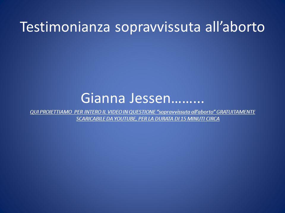 """Testimonianza sopravvissuta all'aborto Gianna Jessen……... QUI PROIETTIAMO PER INTERO IL VIDEO IN QUESTIONE """"sopravvissuta all'aborto"""" GRATUITAMENTE SC"""