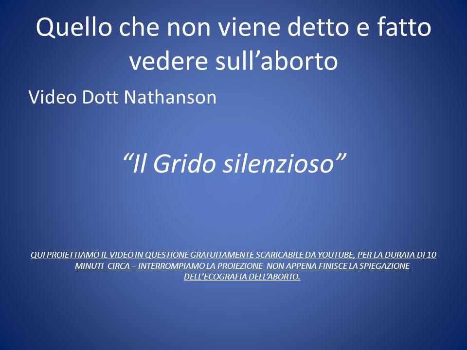 """Quello che non viene detto e fatto vedere sull'aborto Video Dott Nathanson """"Il Grido silenzioso"""" QUI PROIETTIAMO IL VIDEO IN QUESTIONE GRATUITAMENTE S"""