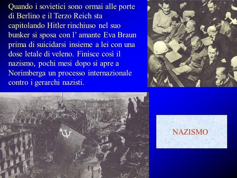 Quando i sovietici sono ormai alle porte di Berlino e il Terzo Reich sta capitolando Hitler rinchiuso nel suo bunker si sposa con l' amante Eva Braun