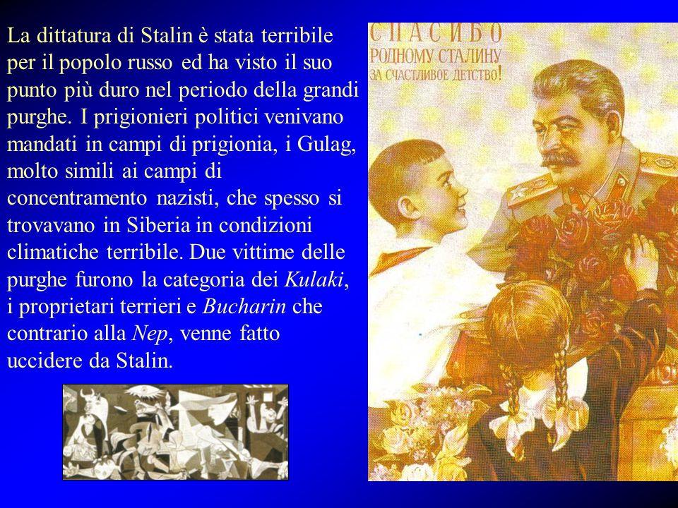 La dittatura di Stalin è stata terribile per il popolo russo ed ha visto il suo punto più duro nel periodo della grandi purghe. I prigionieri politici