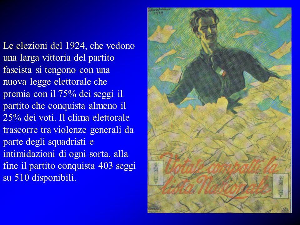 Uccisione Matteotti Nel 1924 il segretario del partito socialista Giacomo Matteotti in seguito ad un suo discorso nel quale denuncia i metodi antidemocratici del partito fascista viene rapito da sicari fascisti.