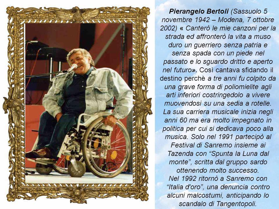Umberto Bindi (Bogliasco, 12 maggio 1932 – Roma, 23 maggio 2002) è stato un cantautore e uno dei maggiori esponenti della cosiddetta scuola genovese dei cantautori insieme a Bruno Lauzi, Gino Paoli, Fabrizio De André e Luigi Tenco un nucleo di artisti che rinnovò profondamente la musica leggera italiana.