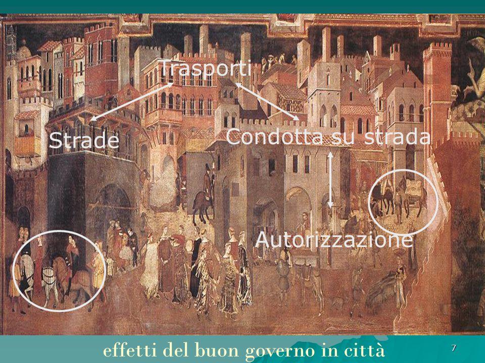7 effetti del buon governo in città Trasporti Strade Condotta su strada Autorizzazione