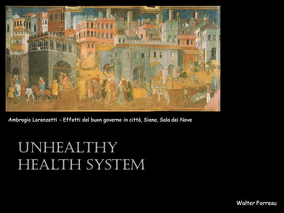 Walter Forresu Ambrogio Lorenzetti - Effetti del buon governo in città, Siena, Sala dei Nove Unhealthy health system