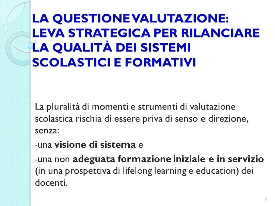 FORMAZIONE INSEGNANTE: UN PROGETTO DI VALUTAZIONE/AUTOVALUTAZIONE IN PROSPETTIVA PEDAGOGICA.