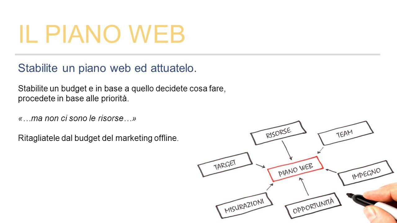 Stabilite un piano web ed attuatelo.