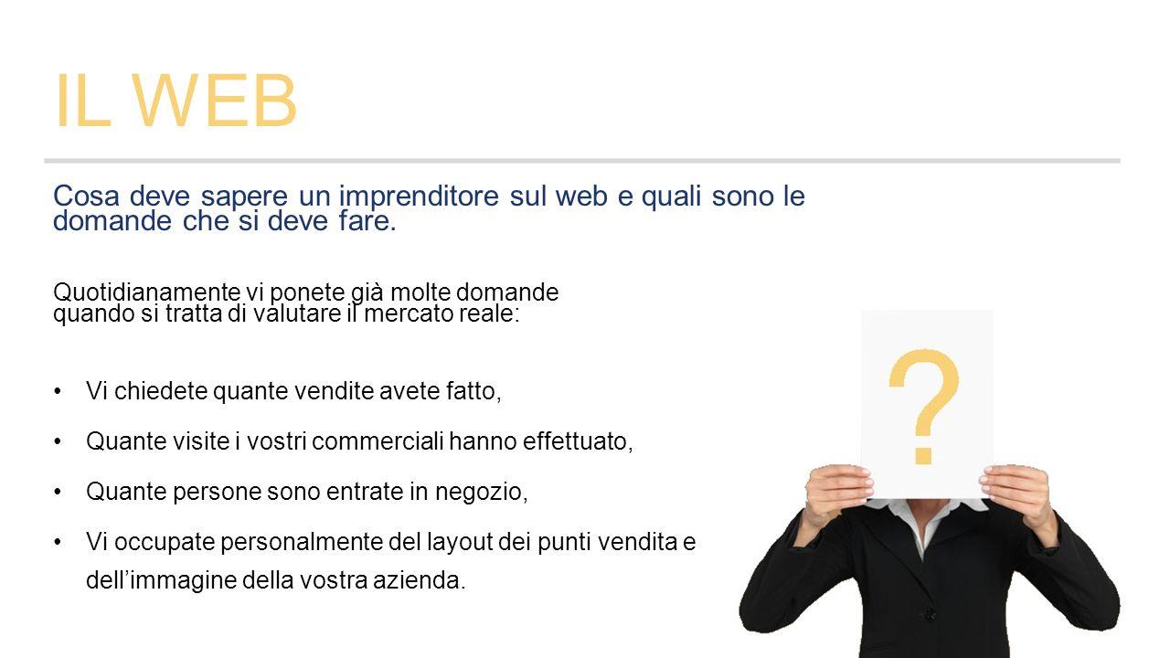 IL WEB Cosa deve sapere un imprenditore sul web e quali sono le domande che si deve fare.