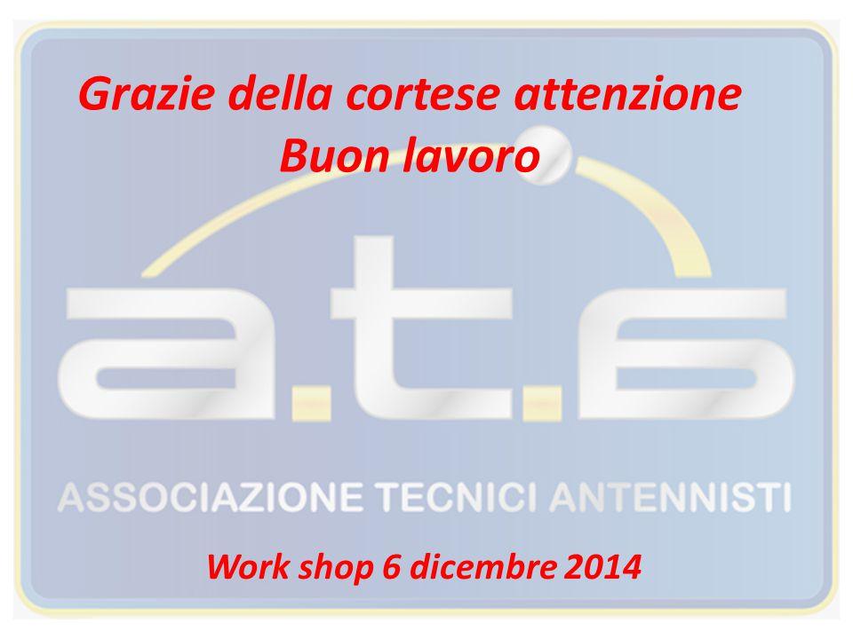 Grazie della cortese attenzione Buon lavoro Work shop 6 dicembre 2014