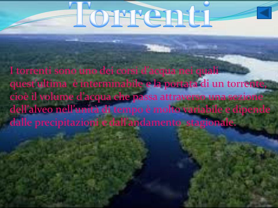 I torrenti sono uno dei corsi d'acqua nei quali quest'ultima è interminabile e la portata di un torrente, cioè il volume d'acqua che passa attraverso