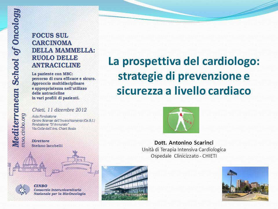 La prospettiva del cardiologo: strategie di prevenzione e sicurezza a livello cardiaco Dott. Antonino Scarinci Unità di Terapia Intensiva Cardiologica