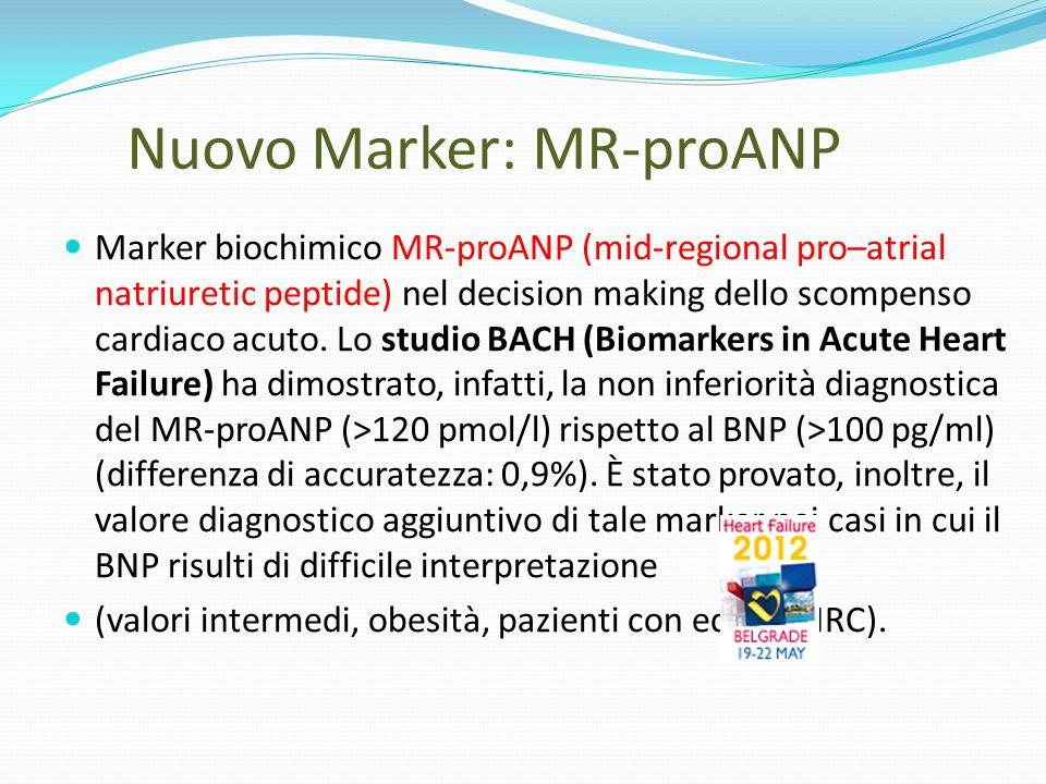 Nuovo Marker: MR-proANP Marker biochimico MR-proANP (mid-regional pro–atrial natriuretic peptide) nel decision making dello scompenso cardiaco acuto.