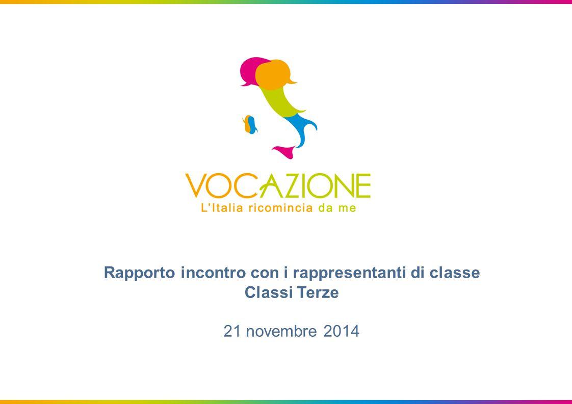Rapporto incontro con i rappresentanti di classe Classi Terze 21 novembre 2014