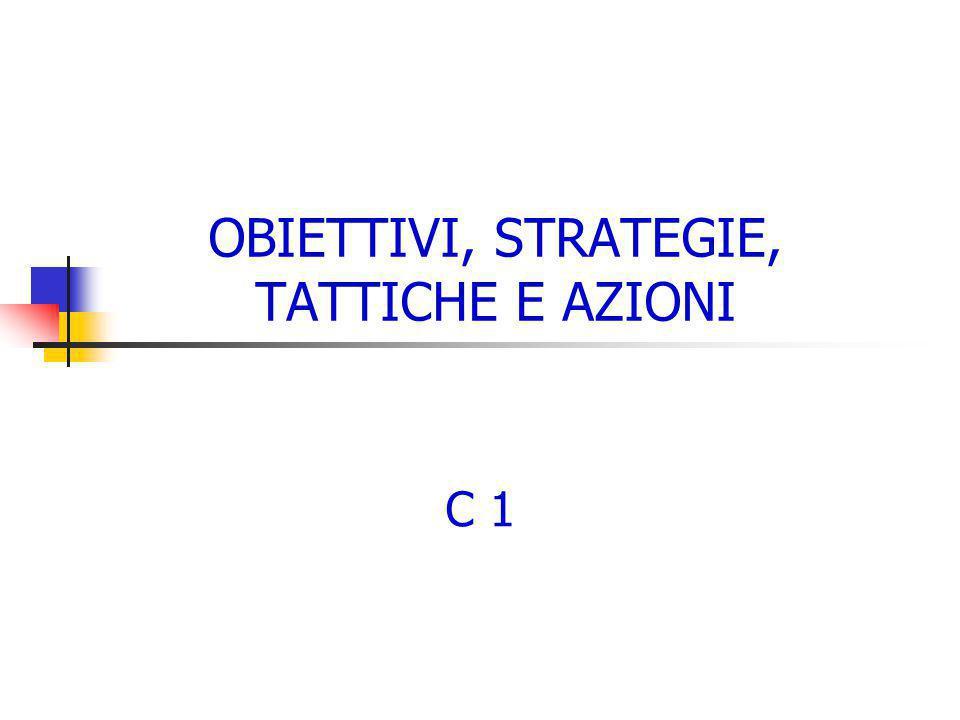 OBIETTIVI, STRATEGIE, TATTICHE E AZIONI C 1