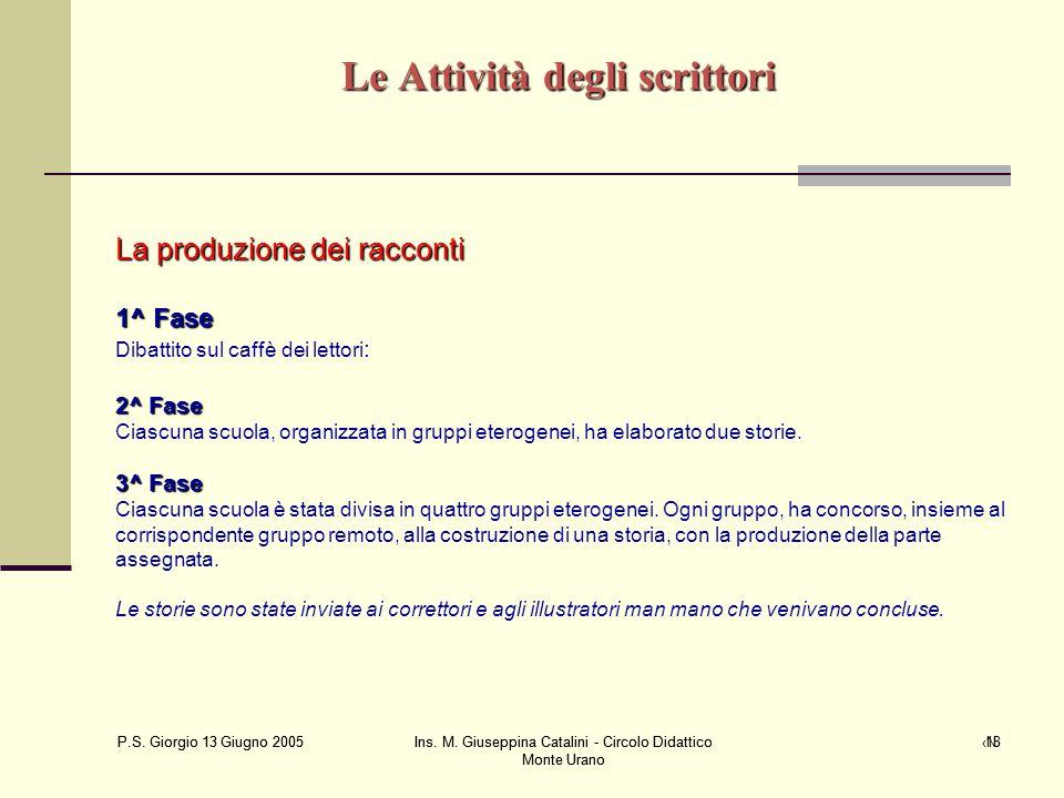 P.S. Giorgio 13 Giugno 2005 Ins. M. Giuseppina Catalini - Circolo Didattico Monte Urano ‹N› P.S. Giorgio 13 Giugno 2005 Ins. M. Giuseppina Catalini -