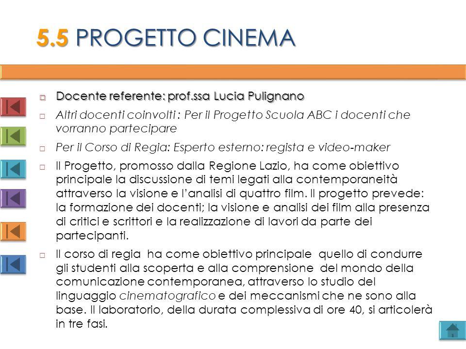  Docente referente: prof.ssa Lucia Pulignano  Altri docenti coinvolti : Per il Progetto Scuola ABC i docenti che vorranno partecipare  Per il Corso