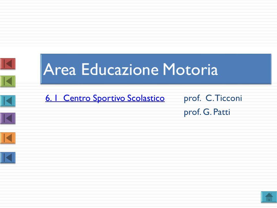 6. 1 Centro Sportivo Scolastico6. 1 Centro Sportivo Scolasticoprof. C. Ticconi prof. G. Patti