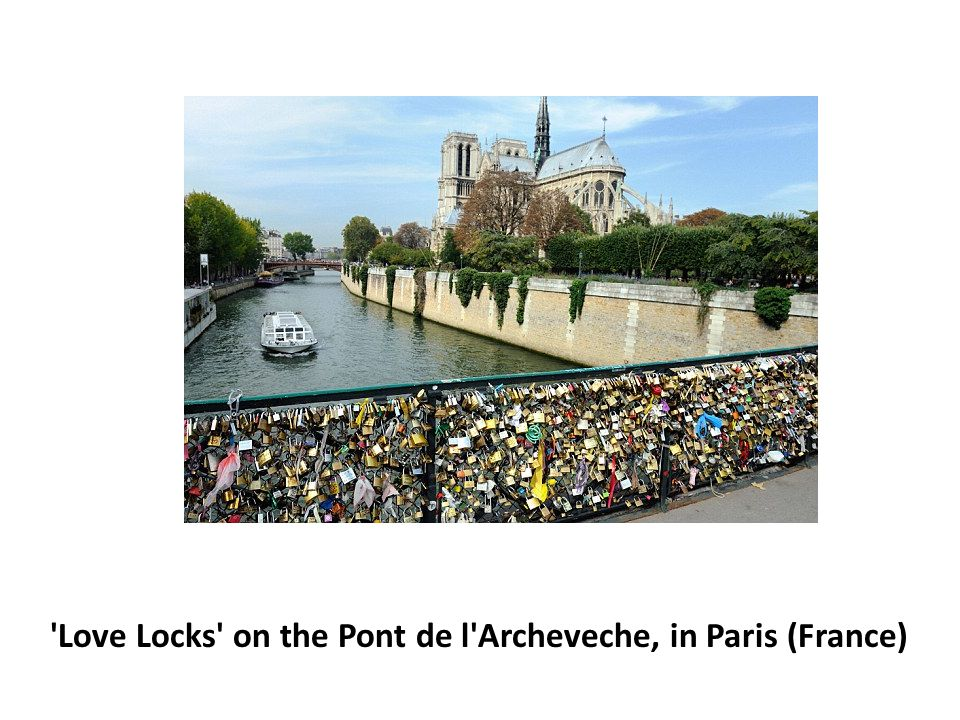 Love Locks on the Pont de l Archeveche, in Paris (France)