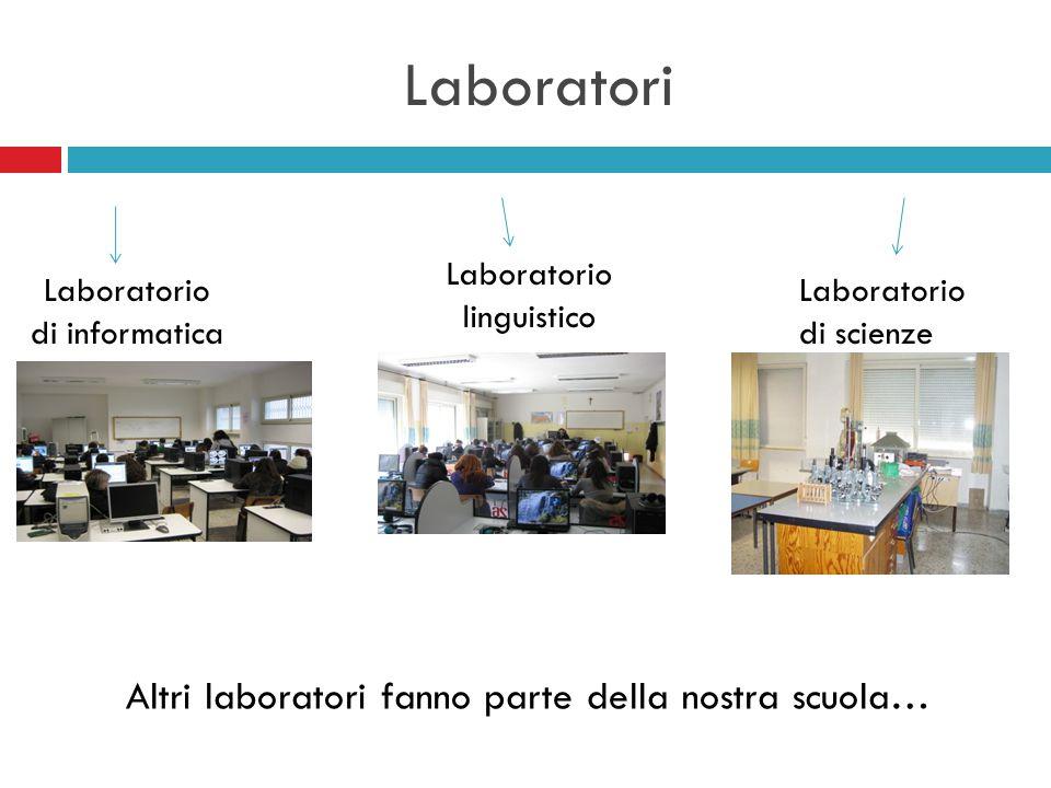 Laboratori Laboratorio di informatica Laboratorio linguistico Laboratorio di scienze Altri laboratori fanno parte della nostra scuola…