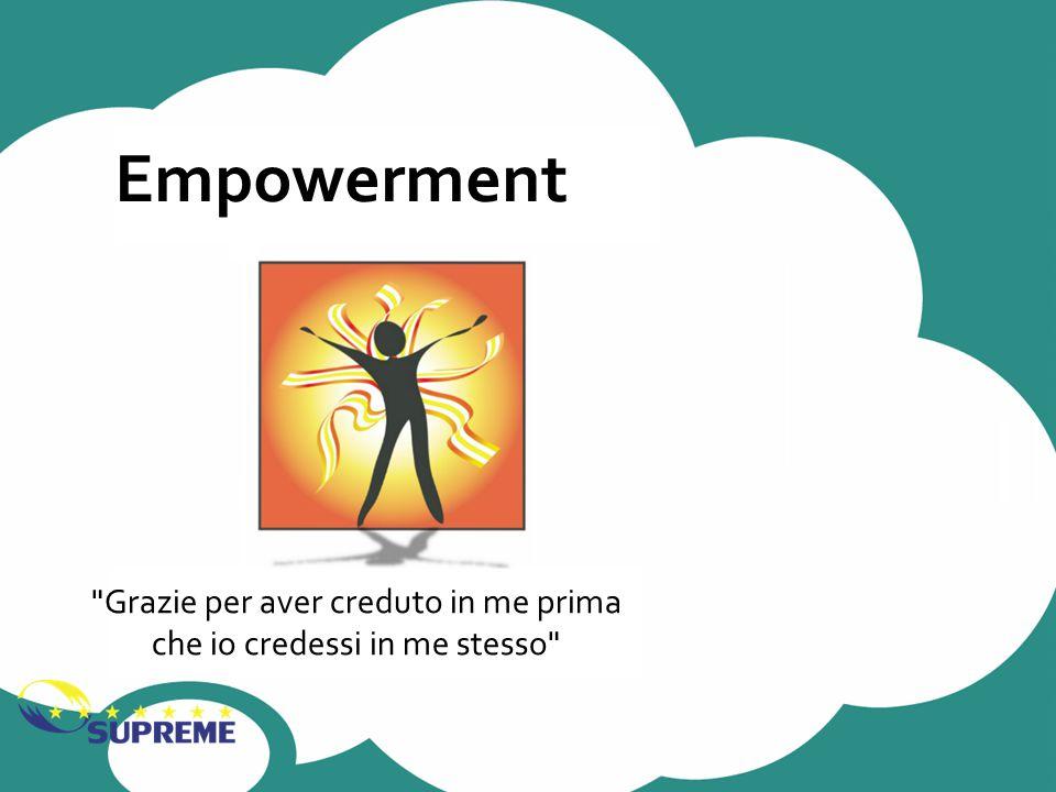 Empowerment Grazie per aver creduto in me prima che io credessi in me stesso