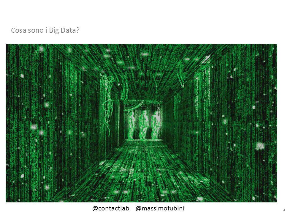2 Cosa sono i Big Data? @contactlab @massimofubini
