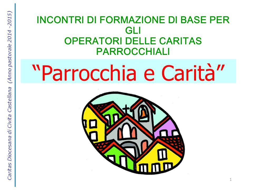 """1 INCONTRI DI FORMAZIONE DI BASE PER GLI OPERATORI DELLE CARITAS PARROCCHIALI """"Parrocchia e Carità"""" Caritas Diocesana di Civita Castellana (Anno pasto"""