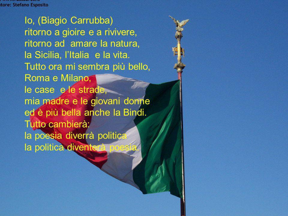 E a voi del buon governo Prodi Vi dedico questi versi di P.