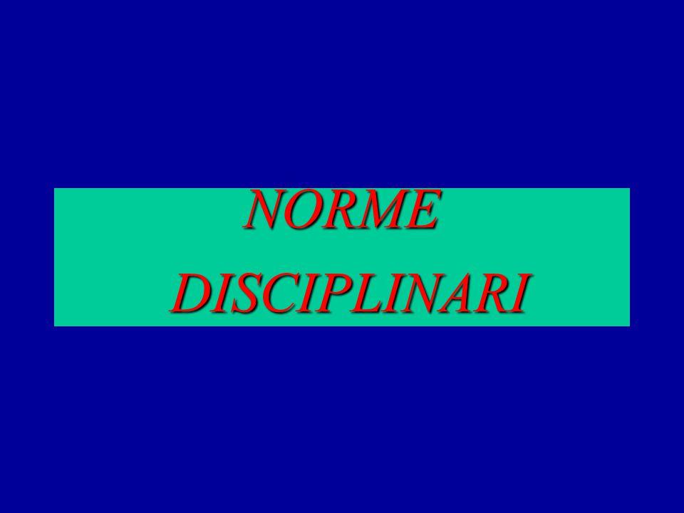 NORME DISCIPLINARI DISCIPLINARI