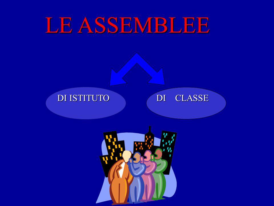 LE ASSEMBLEE DI ISTITUTO DI CLASSE