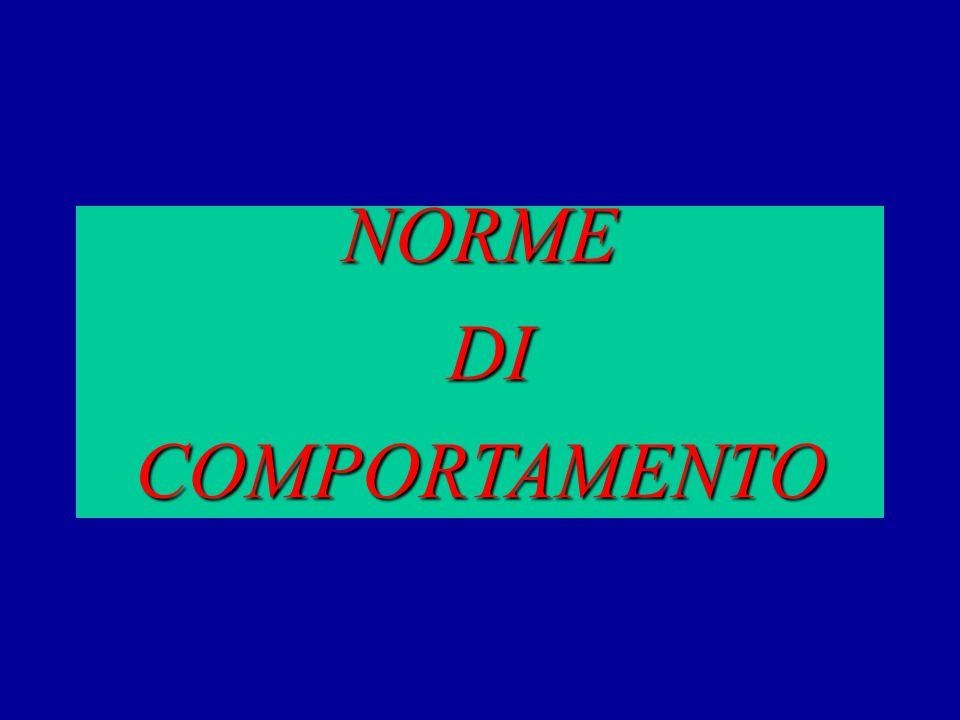 NORME DI DICOMPORTAMENTO