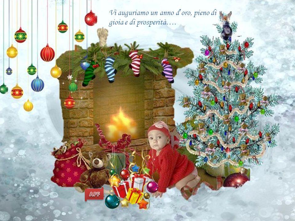 Vi auguriamo un anno d'oro, pieno di gioia e di prosperità….