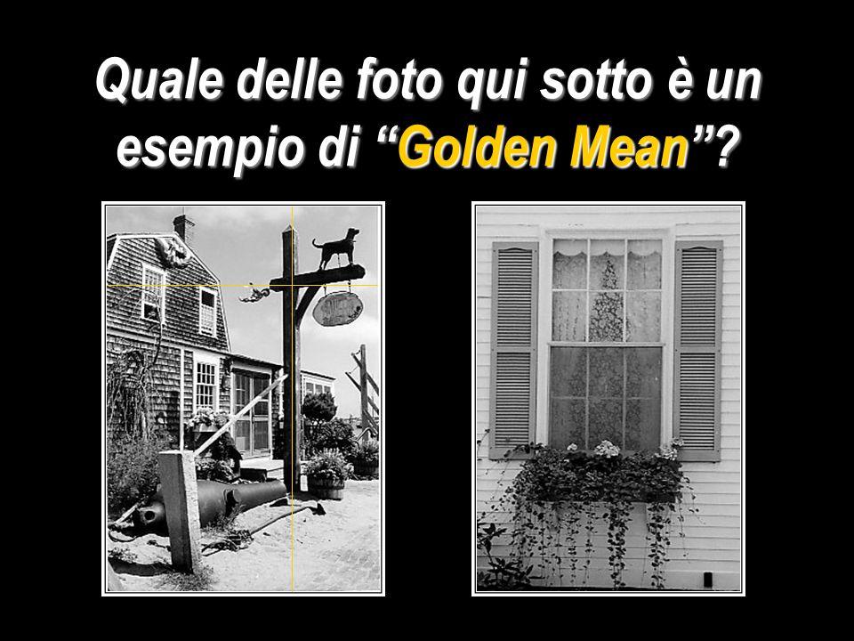 Quale delle foto qui sotto è un esempio di Golden Mean