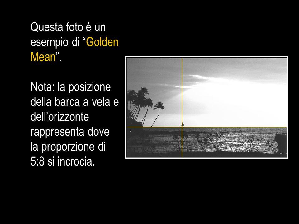 Quale delle foto qui sotto è un esempio di Golden Mean .