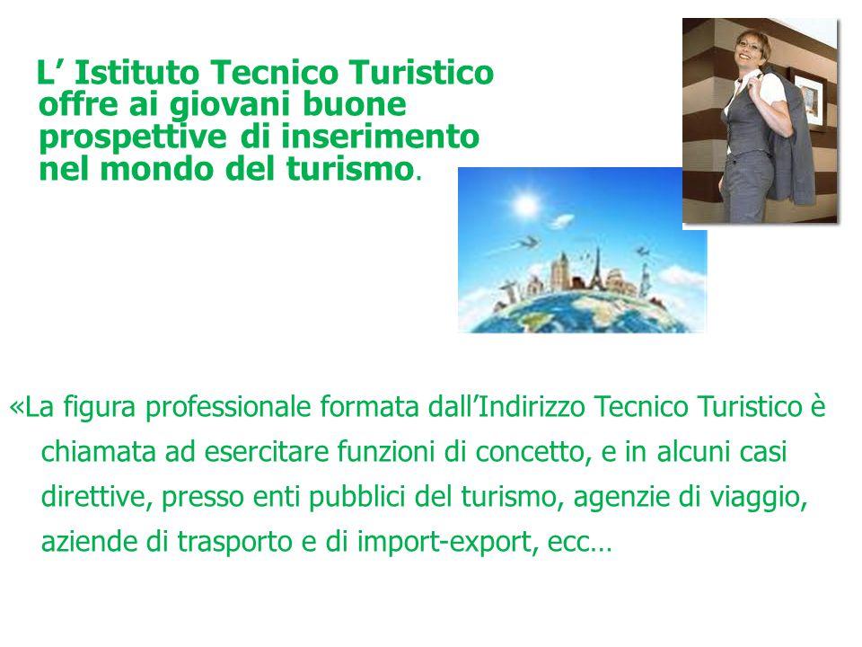 L' Istituto Tecnico Turistico offre ai giovani buone prospettive di inserimento nel mondo del turismo. «La figura professionale formata dall'Indirizzo