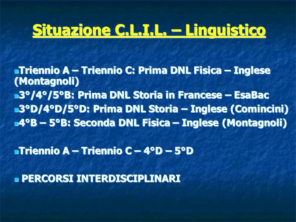 Situazione C.L.I.L.