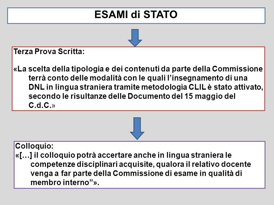 ESAMI di STATO Colloquio: «[…] il colloquio potrà accertare anche in lingua straniera le competenze disciplinari acquisite, qualora il relativo docent