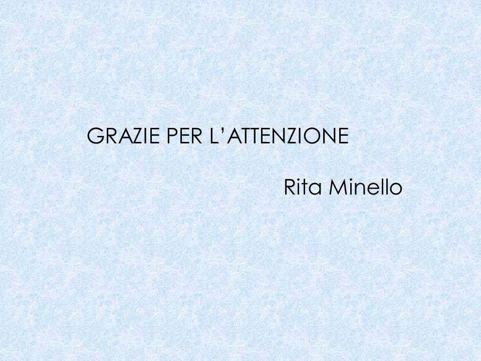 GRAZIE PER L'ATTENZIONE Rita Minello