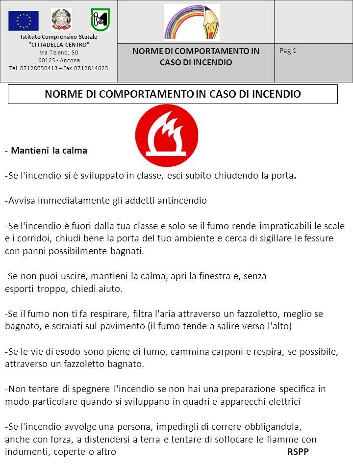 Istituto Comprensivo Statale CITTADELLA CENTRO Via TIziano, 50 60125 - Ancona Tel.