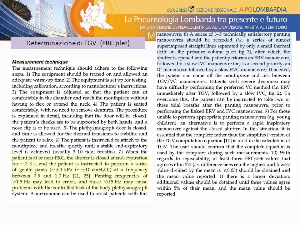 Determinazione di TGV (FRC plet)