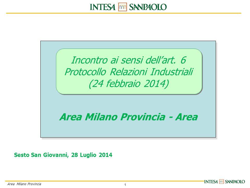 1 Area Milano Provincia Incontro ai sensi dell'art.