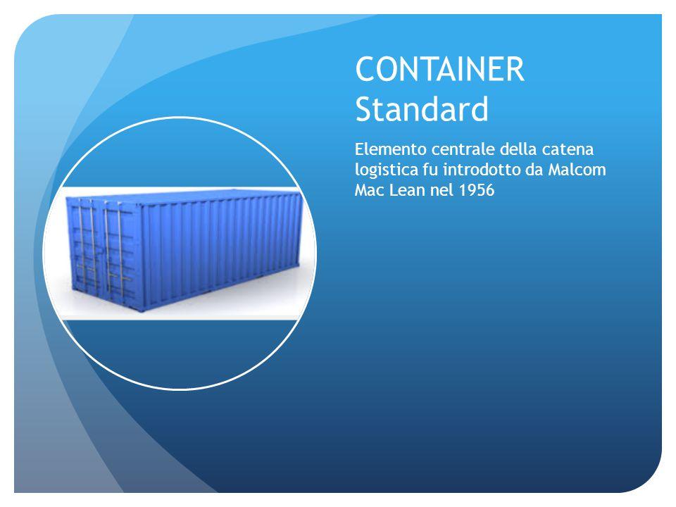CONTAINER Standard Elemento centrale della catena logistica fu introdotto da Malcom Mac Lean nel 1956