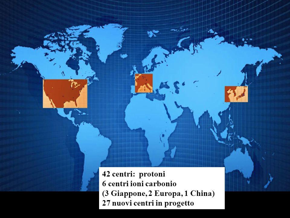 www.cnao.it 42 centri: protoni 6 centri ioni carbonio (3 Giappone, 2 Europa, 1 China) 27 nuovi centri in progetto