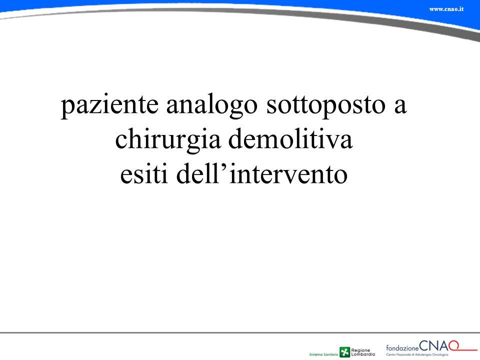 www.cnao.it paziente analogo sottoposto a chirurgia demolitiva esiti dell'intervento