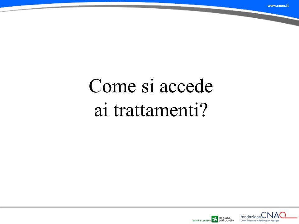 www.cnao.it Come si accede ai trattamenti?