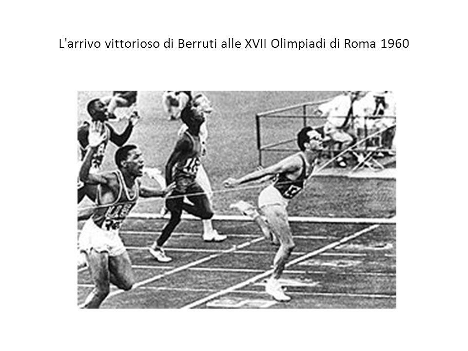 L'arrivo vittorioso di Berruti alle XVII Olimpiadi di Roma 1960