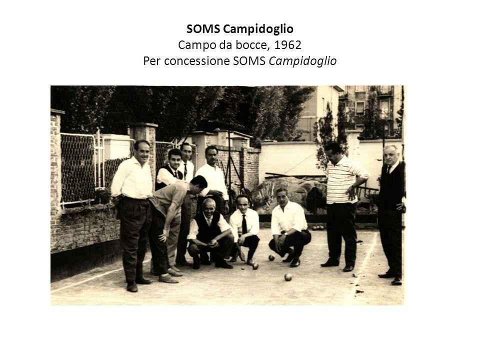 SOMS Campidoglio Campo da bocce, 1962 Per concessione SOMS Campidoglio